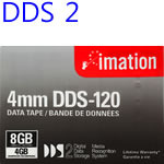 백업테이프 imation DDS2 DDS120 4mm 120M 4/8GB